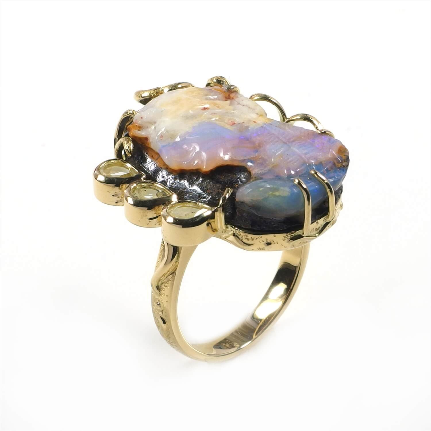 OpalCameo Ring