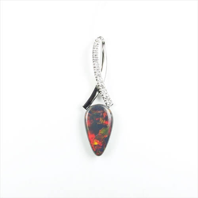 Sample with opal on top